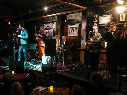 PRINTERS ALLEY: Brett Eldredge is backed by a jazz