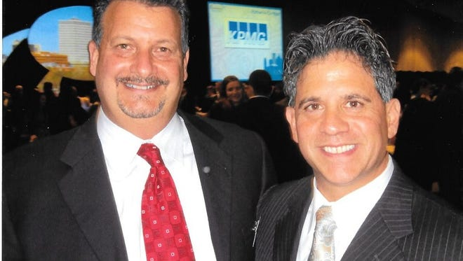 John Gaudu, left, and Ed Leva are founders of Wellington Steele & Associates, a recruitment and outsourcing firm.