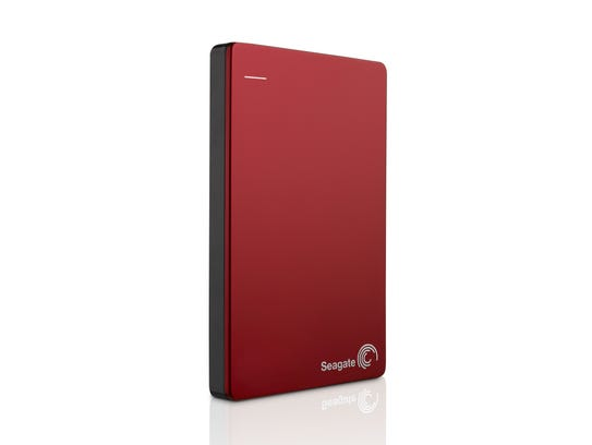 A Seagate Hard Drive, used for backing up files.