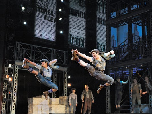 Newsies, the musical, at Paper Mill Playhouse
