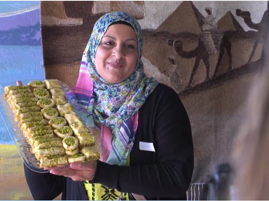 A participant in the Syrian Sweets Exchange program