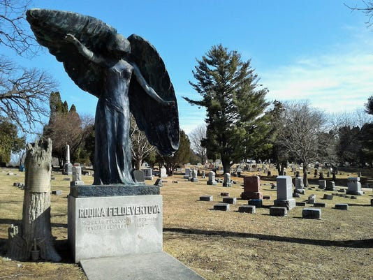 Black Angel at Oakland Cemetery