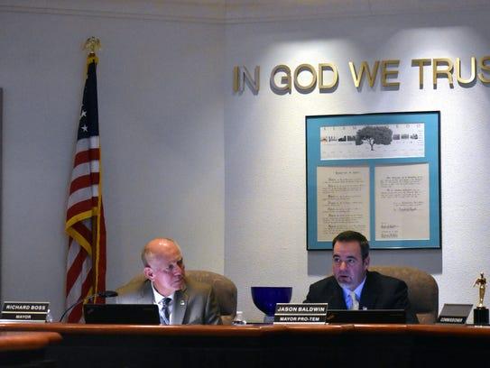 Mayor Richard Boss and Mayor Pro-Tem Jason Baldwin