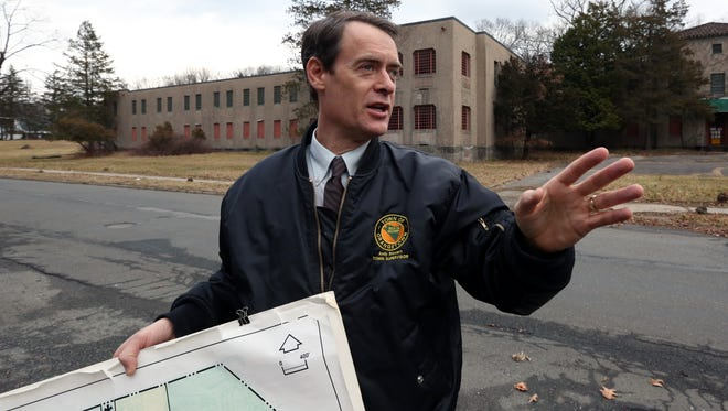 Orangetown Supervisor Andy Stewart at the former Rockland Psychiatric Center in Orangeburg. The town is considering selling a 60-acre parcel there to a data center developer.