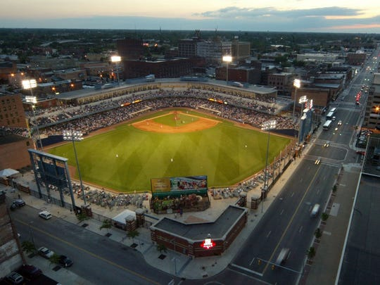 A view of Fifth Third Field, home of the Toledo Mud Hens, in Toledo.
