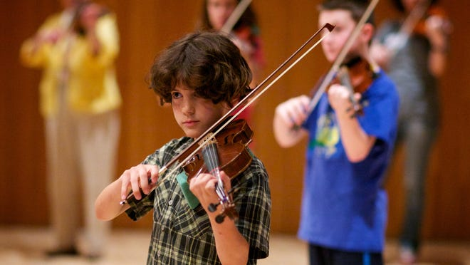 Students rehearse during the American Suzuki Institute at the University of Wisconsin-Stevens Point.
