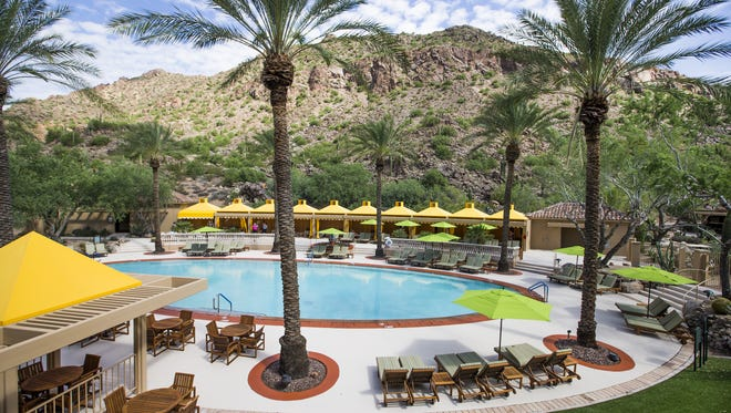 This is the view of Camelback Mountain from a suite at the Canyon Suites at the Phoenician in 2016.
