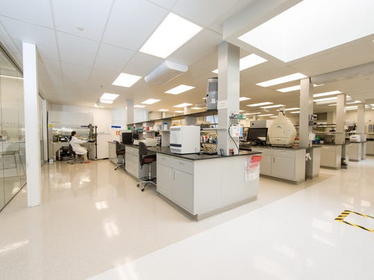 The lab at OvaScience's Boston-area headquarters is shown.