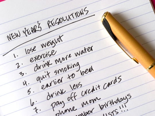 Getty Images/iStockphoto New Year's Resolutions, a long list of items!!!