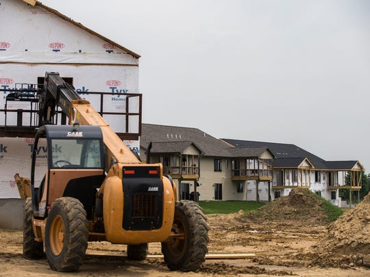 Construction continues on many new homes in Tiffin on Tuesday, May 209, 2018. According to according to new data released by the U.S. Census Bureau Tiffin is the fastest growing city in Iowa.