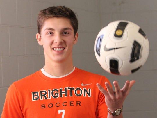 Brighton senior Blake Barribeau led the Bulldogs with