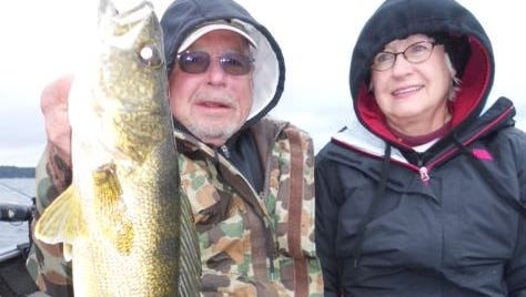 Jim and Renee Sandlin from Springdale, AK fished with guide Jeff Evans in October 2014.