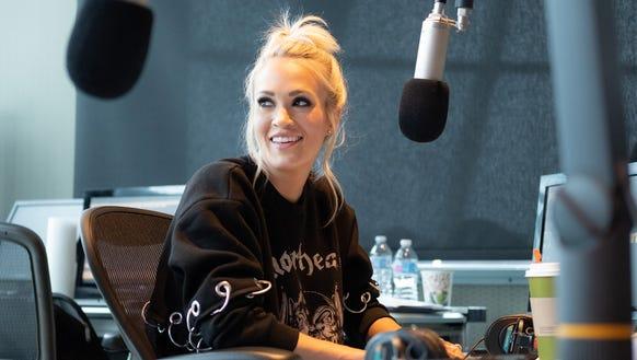 Carrie Underwood visits SiriusXM Nashville Studios