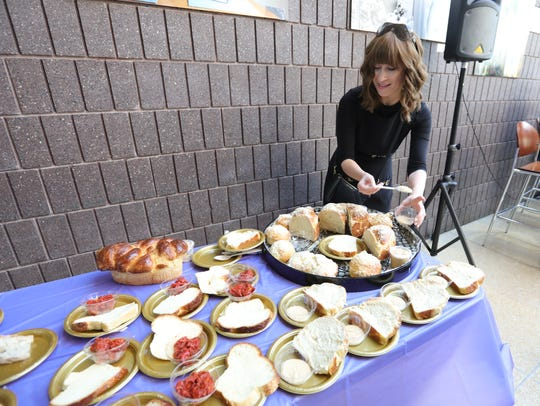 Contestants prepare for a Challah and Dip bake-off