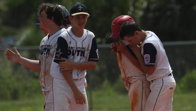 The South Fort Myers Little League Junior baseball team lost  4-2 to the Rutherfordton, North Carolina baseball team at the South East Regional Championship game at Sam Fleishman Regional Sports Conplex. The Rutherfordton came from a 2-0 deficit.