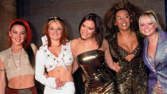 The Spice Girls, here at the 1997 Billboard Awards, are very self aware in their movie 'Spice World.'