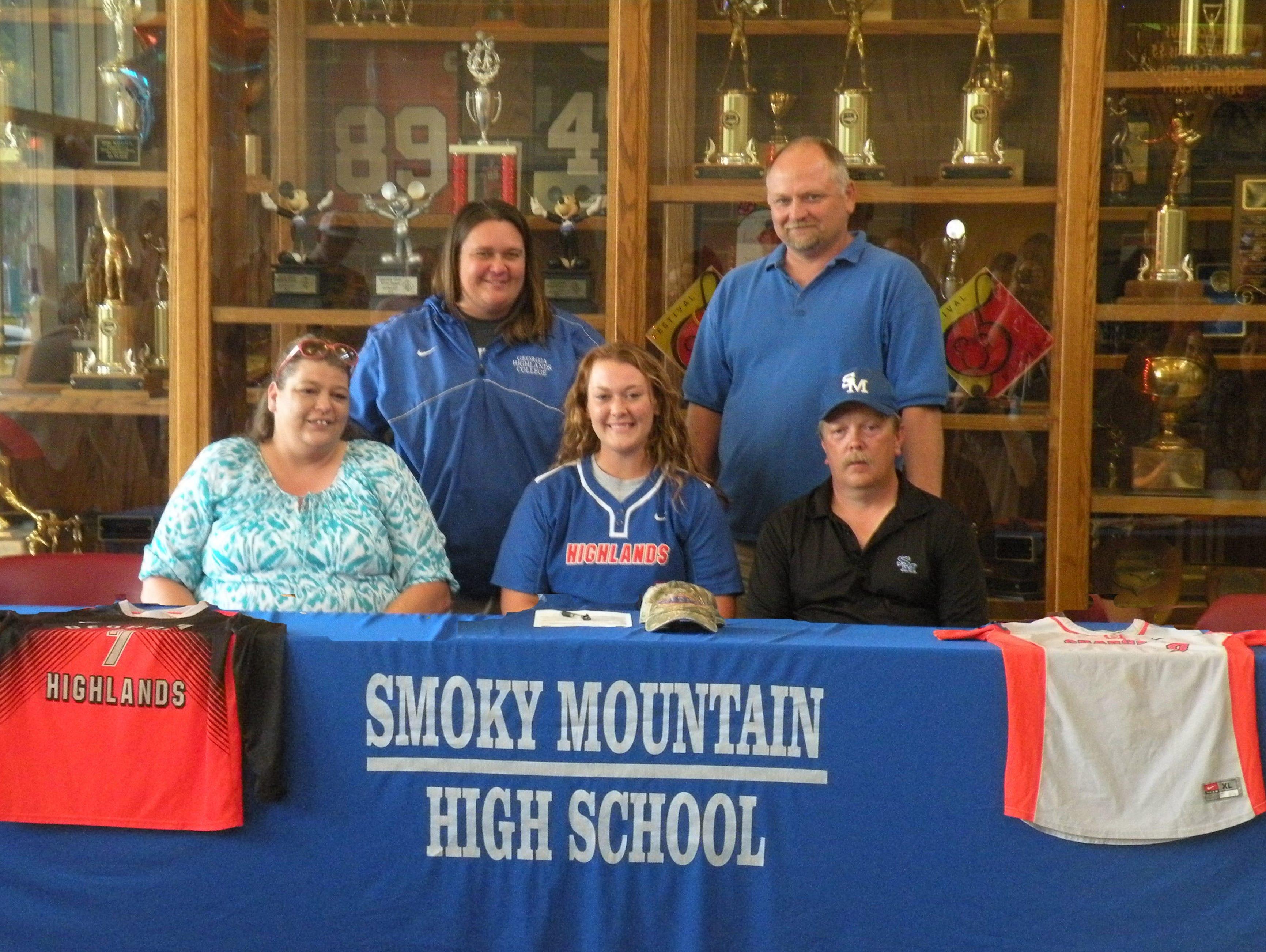 Smoky Mountain senior Micayla McCoy has signed to play college softball for Georgia Highlands.