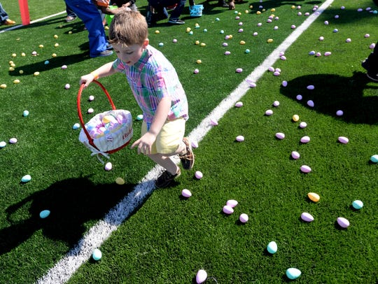 Easter Eggstravaganza event at First Baptist Church