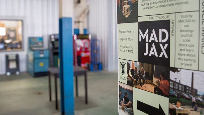 Different areas inside Madjax are primed for development at the makers site in downtown Muncie. Several ventures including Guardian Brewery and Tribune Showprint have already made the space their home.