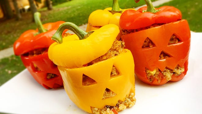Try out these stuffed jack-o' lantern bell peppers recipe for Halloween.