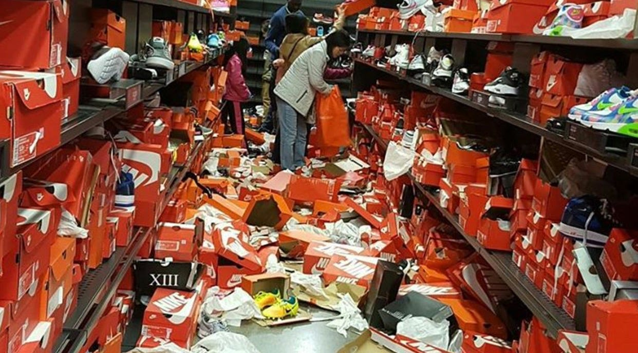 Friday shoppers tore this Nike store