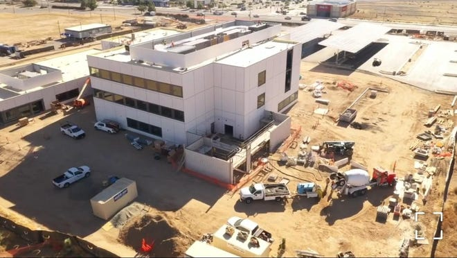 An aerial view of Kaiser Permanente's Hesperia Medical Office located on Escondido Avenue. The facility is expected to open with some services in December 2020.