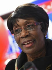Shreveport Mayor Ollie Tyler speaks at her re-election