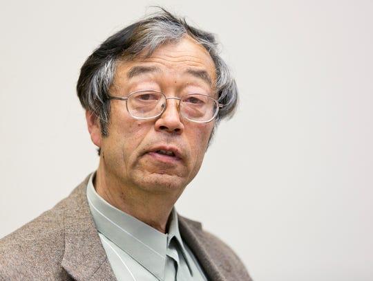 Dorian Satoshi Nakamoto is shown during an interview