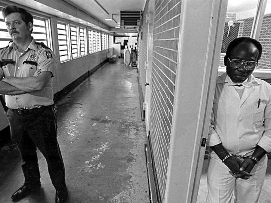 """Herbert Richardson, one of Stevenson's clients, in a photo taken shortly before his execution. Stevenson said Richardson is one of 56 people executed in Alabama since the resumption of capital punishment who may not have been had they received """"timely and effective"""" legal assistance."""