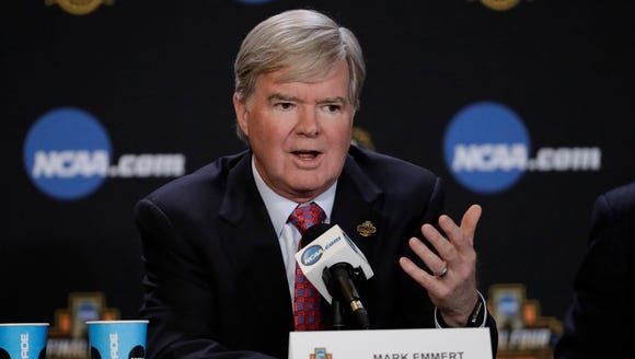 FILE - In this March 30, 2017, file photo, NCAA President