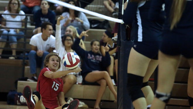 Palm Springs Ashtyn Lyneis can't make the save on Thursday in La Quinta.