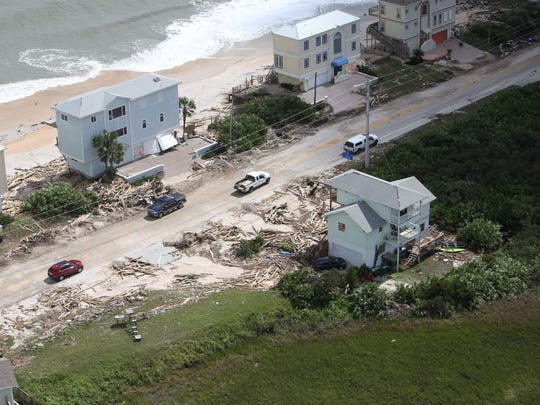 Damage from Hurricane Matthew can be seen near St. Augustine Florida on Saturday.