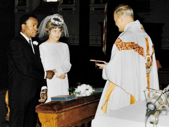 As a football coach and teacher at North Division High School, Robert Harris Jr.  met and fell in love with Mary Ann Artmann, the school nurse. They married Aug. 12, 1967.