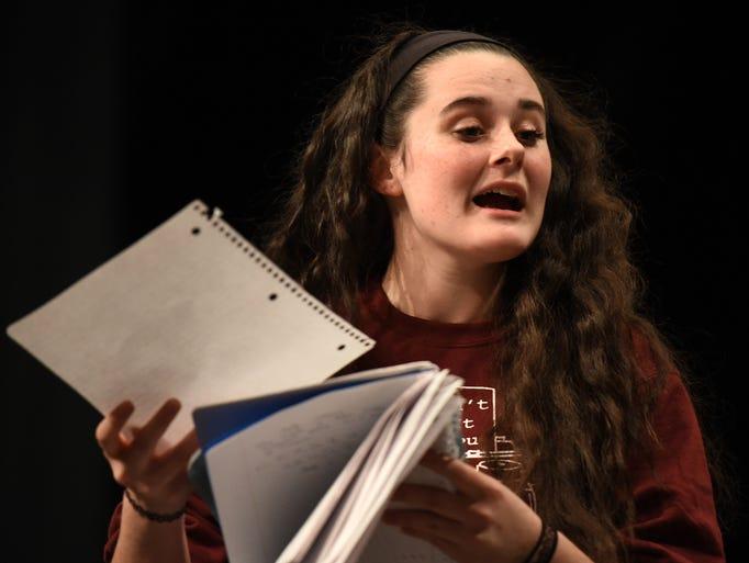 Milford High student Tessa Biondo (playing an understudy