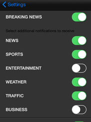 Get the free alerts you want, only when you want them.