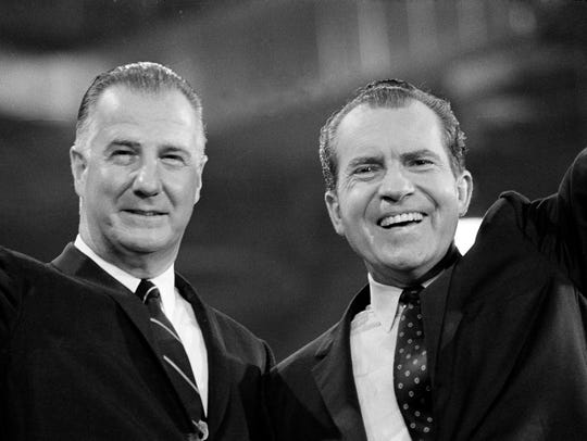 Richard M. Nixon waves to Republican National Convention