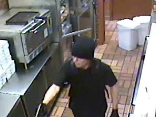 Police are looking for the suspect who robbed Subway on Garden Mile Road on Monday night.