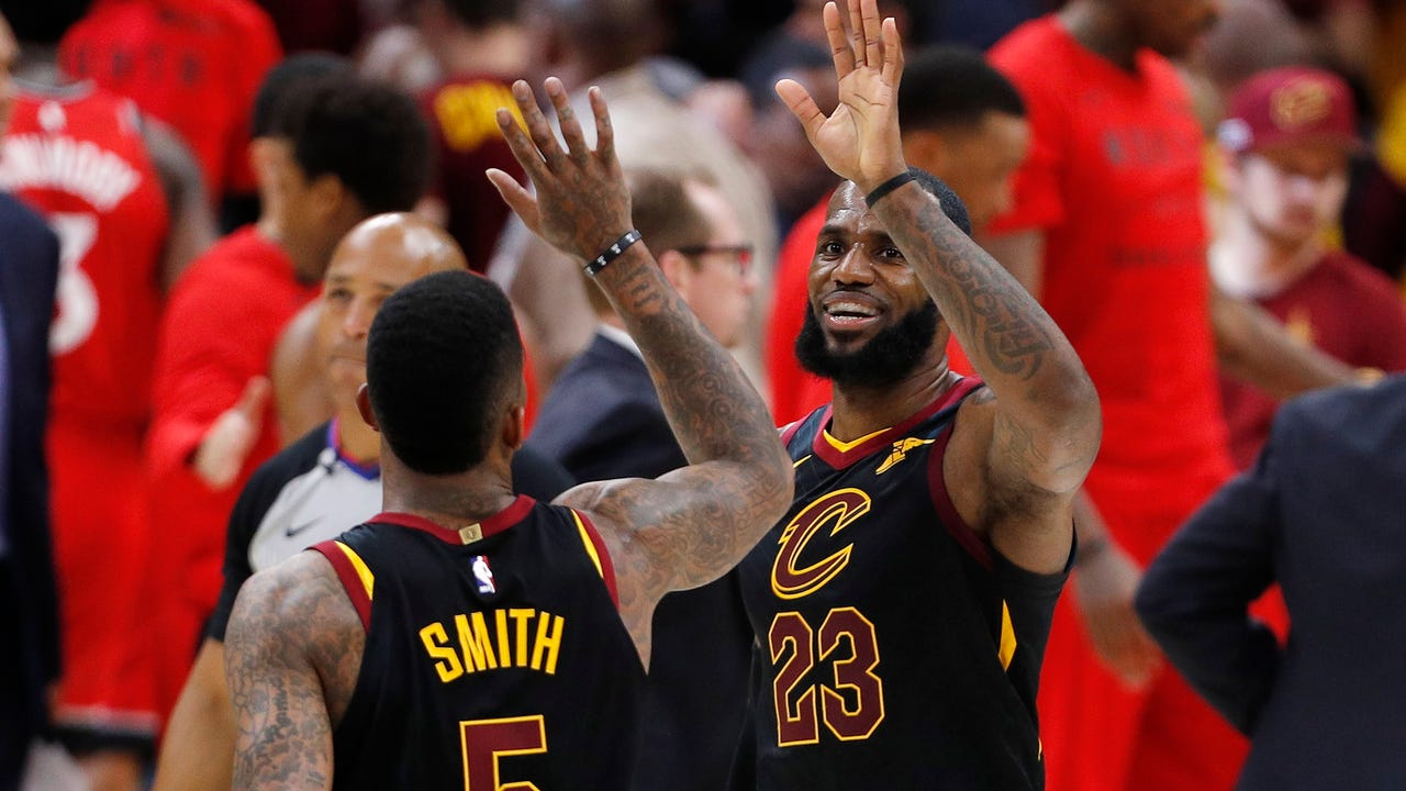 huge selection of f6ede 889c6 NBA playoffs: LeBron, Cavs finish off another sweep of Raptors