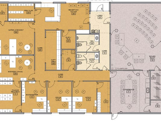 Floor plan of administration building