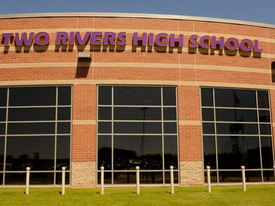 Exterior of Two Rivers High School