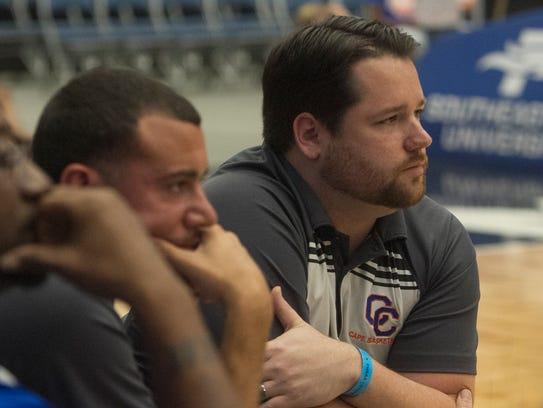 Cape Coral's Boys head basketball coach Brandon Sensor,