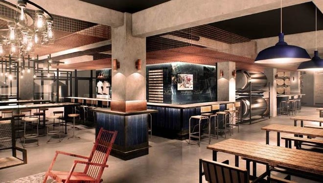 Rendering of the Samuel Adams Tap Room coming in Fall of 2018.