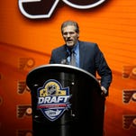 General manager Ron Hextall owns the 18th pick in Friday night's draft.