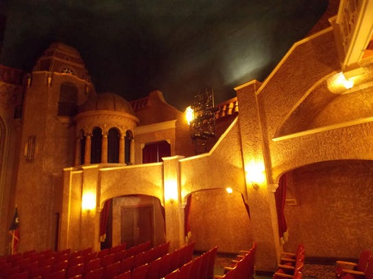 The inside of the Paramount Theatre, which was renovated with the help of the Dodge Jones Foundation.