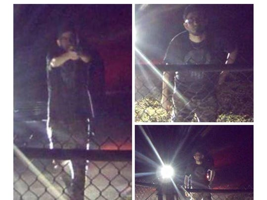 The Brevard County Sheriff's Office released these photos in March, seeking help identifying this gunman who fired shots at signs and security cameras at the Florida Power & Light Barefoot Bay Solar Energy Center.