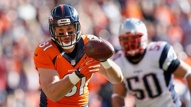 Denver Broncos tight end Owen Daniels in January 2016.
