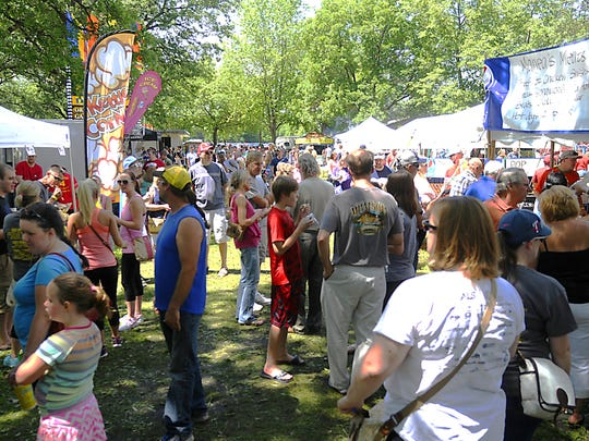 Locals come out to enjoy the variety of food at the Sauk Rapids Food Fest on Saturday.