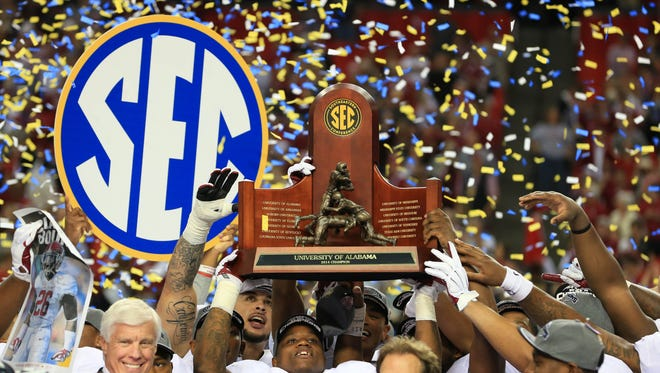 The Alabama Crimson Tide has 13 players selected in the AP All-SEC team .