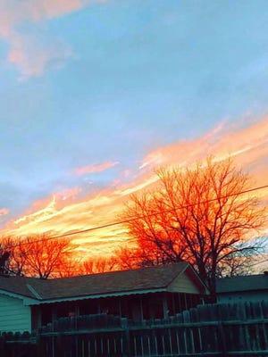 A Kansas sunset from Pratt.