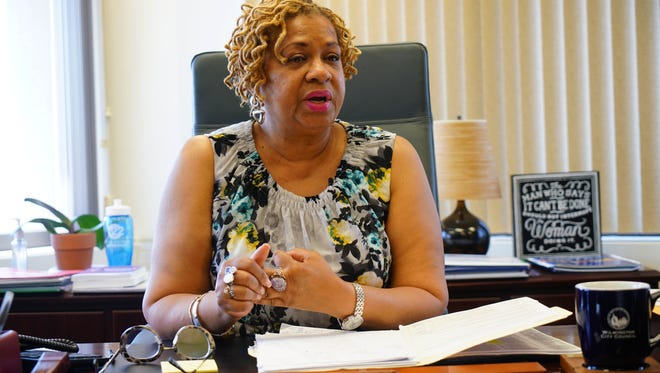Hanifa Shabazz, president of city council, talks about the CDC's research into Wilmington's gun violence as a public health issue.